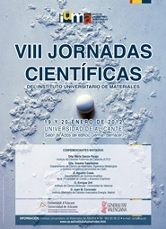 Cartel VIII Jornadas del Instituto Universitario de Materiales